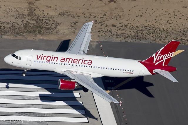 N848VA Airbus A320 Virgin America Los Angeles airport KLAX  08.11-16