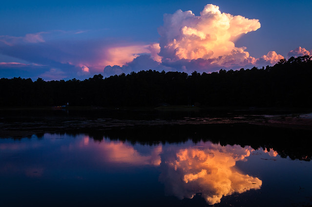Reflected Thunderstorm