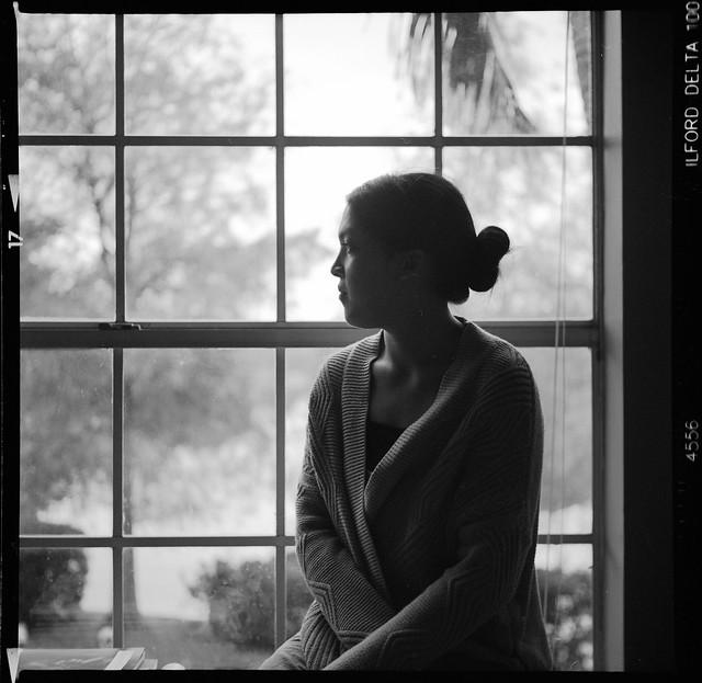 Meg by the window
