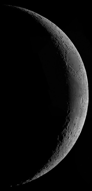 Waxing crescent moon, 2020-05-25