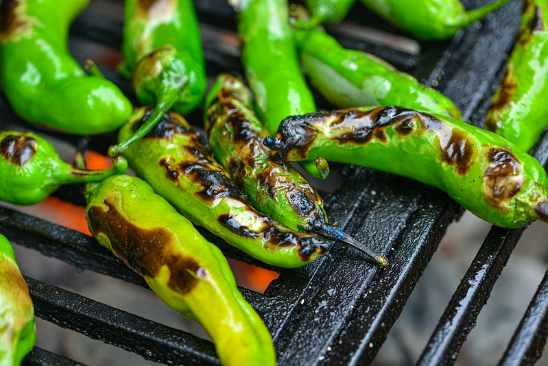 Grilled Shishito Peppers with Lime and Sea Salt