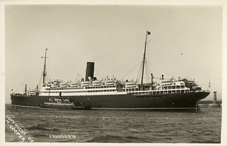 SS Franconia, Cunard Line Ship, c. 1930, published by M. Cooper | by State Library of New South Wales collection