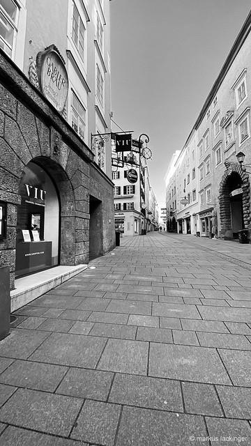 Salzburg Linzergasse - Corona Lockdown