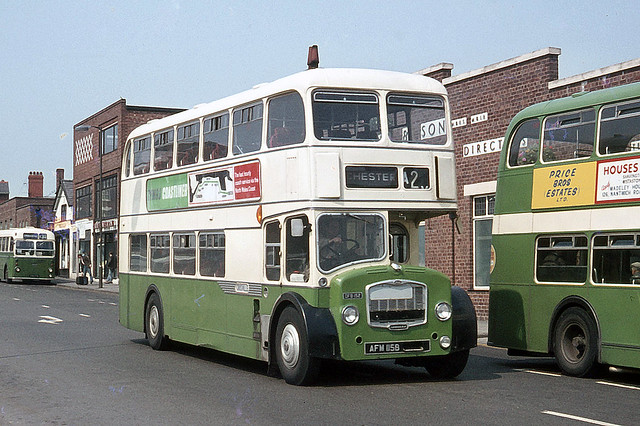 Crosville Motor Services . DFB 152 AFM115B . Chester . Wednesday 24th-June-1970 .