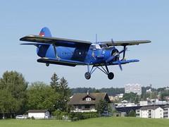 Antonov AN-2 HA-ABA approaching EML Emmen Air Base Switzerland 2020