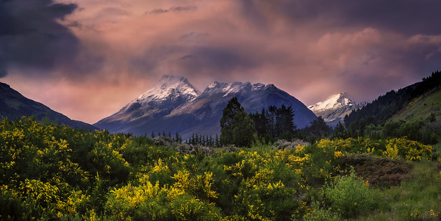 Stormy sunset in Glenorchy