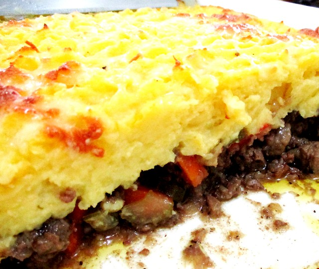 Cottage pie, cross-section