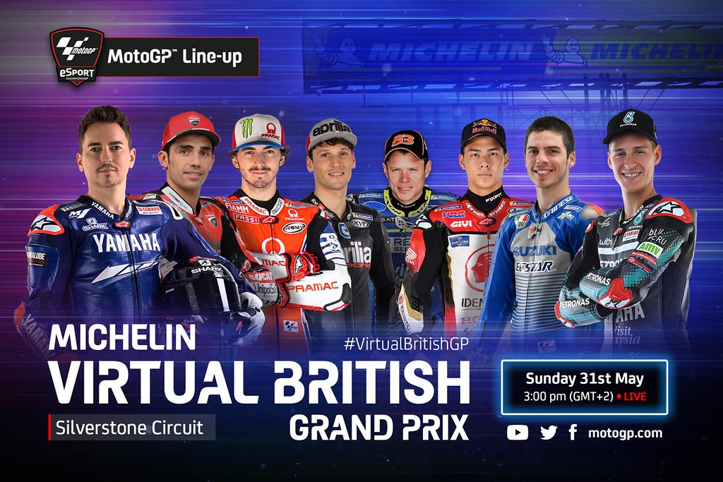 MotoGP Virtual Race British Line-Up