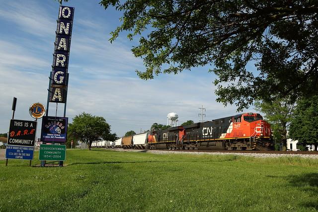 CN 2317 north in Onarga, Illinois on May 26, 2020.