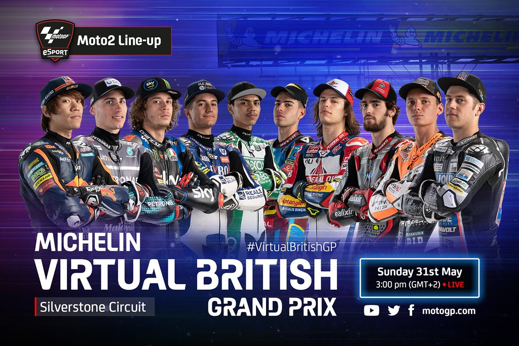 Moto2 Virtual Race British Line-Up