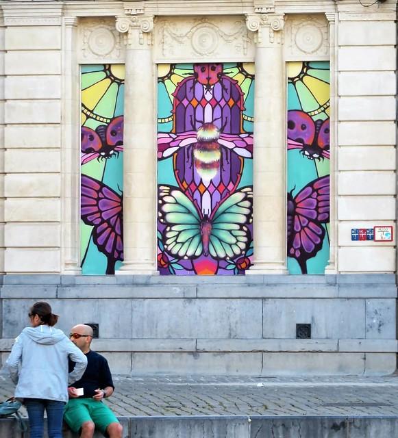 #Ghent update on #StreetArtCities app & map : new work by #Xuas in the heart of the city. . #Gent #mural #urbanart #mural #graffitiart #artinthestreets #streetartbelgium #graffitibelgium #visitgent #muralart #streetartlovers #graffitiart_daily #streetarte