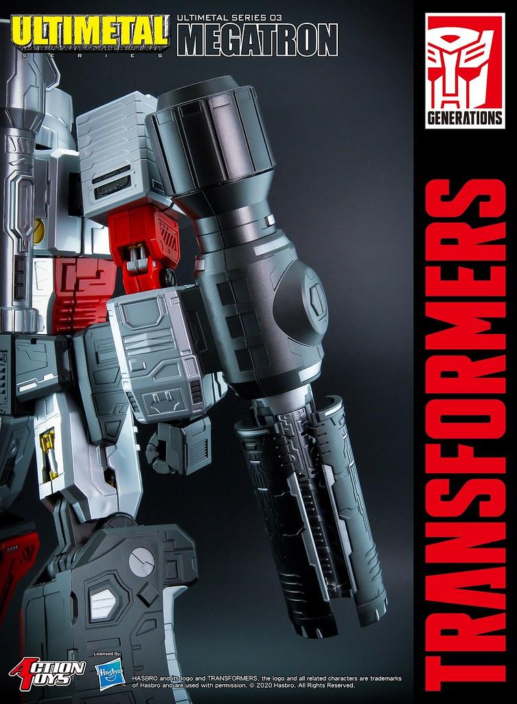 原版配音員獻聲,破壞大帝霸氣現身! Action Toys Ultimetal 系列《變形金剛》密卡登(Ultimetal Series 03 Megatron)合金可動模型