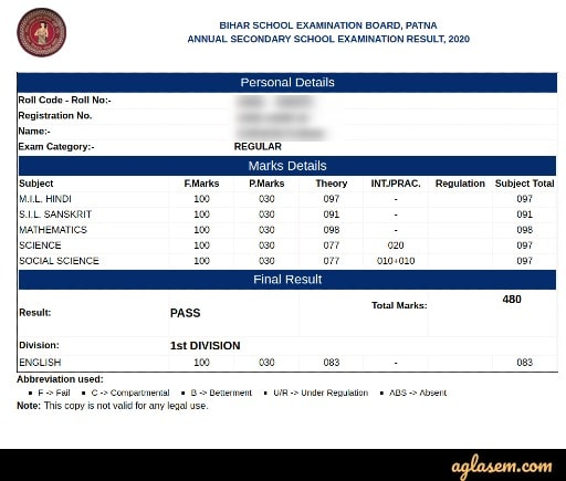 Bihar Board 10th Result 2020 Bihar Board 10th Result 2020 (Out) – Check BSEB 10 Result at biharboardonline.com