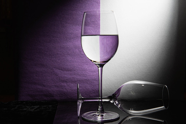 Wine Glass Refraction Pattern
