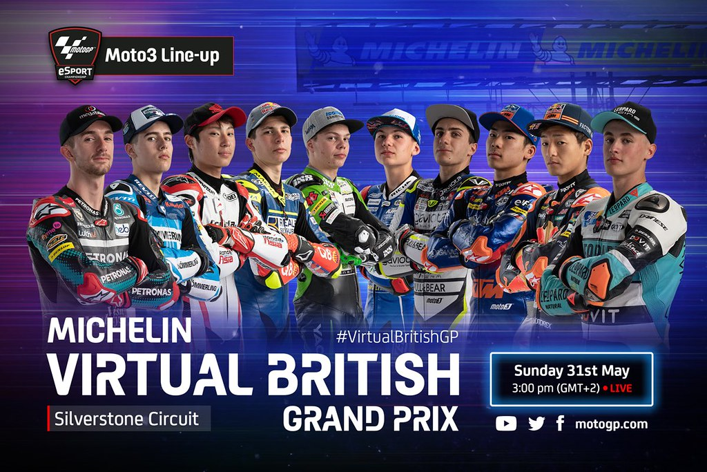 Moto3 Virtual Race British Line-Up