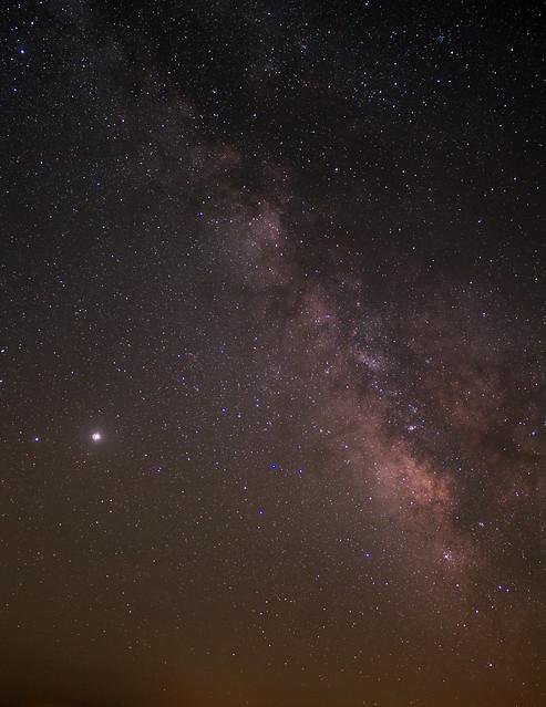 Milky Way + Jupiter & Saturn