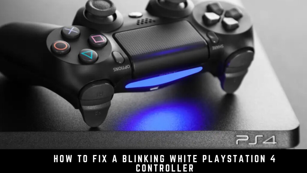 How to fix a blinking white PlayStation 4 controller
