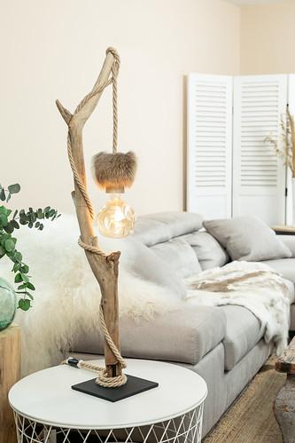 Lampe de Table Bois Flotte