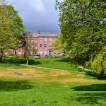 Sunlit Winckley Square at Preston