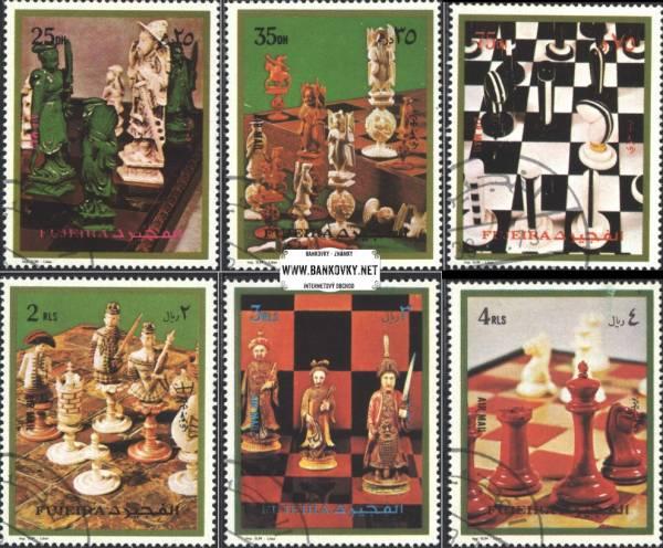 Známky Fujeira 1972 Šachy, razítkovaná séria