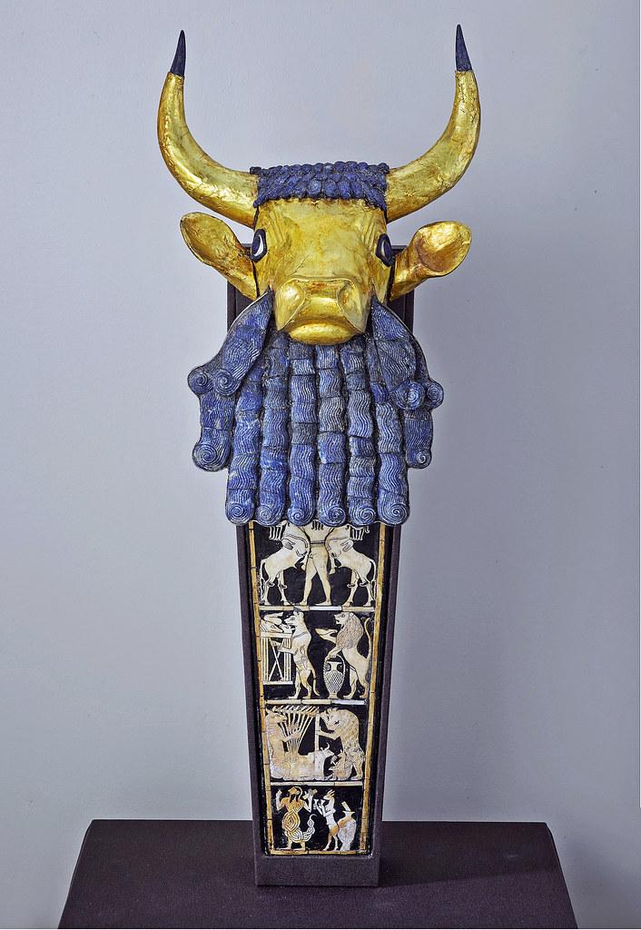 Gold Bull-headed lyre from Ur [ca 2450 BCE]