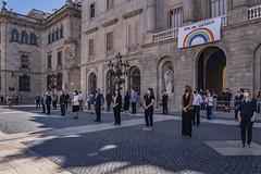 dc., 27/05/2020 - 11:59 - Barcelona 27.05.2020 Minut de silenci en homenatge a les víctimes del COVID-19.   Foto Laura Guerrero/Ajuntament de Barcelona