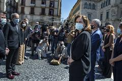 dc., 27/05/2020 - 12:01 - Barcelona 27.05.2020 Minut de silenci en homenatge a les víctimes del COVID-19.   Foto Laura Guerrero/Ajuntament de Barcelona