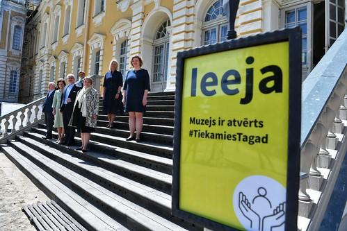 27.05.2020. Valsts prezidents Egils Levits ar dzīvesbiedri Andru Leviti apmeklē Rundāles pili