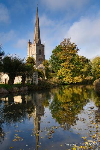 burford uk cotswolds england nikon d750 church reflection
