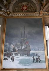Dans le froid hivernal, Musée national d'histoire, château de Frederiksborg, Hillerød, Sélande, Danemark