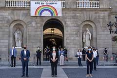dc., 27/05/2020 - 11:58 - Barcelona 27.05.2020 Minut de silenci en homenatge a les víctimes del COVID-19.   Foto Laura Guerrero/Ajuntament de Barcelona