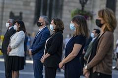 dc., 27/05/2020 - 12:00 - Barcelona 27.05.2020 Minut de silenci en homenatge a les víctimes del COVID-19.   Foto Laura Guerrero/Ajuntament de Barcelona