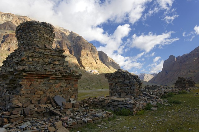 The old stupas in the Lha chu valley, Tibet 2019