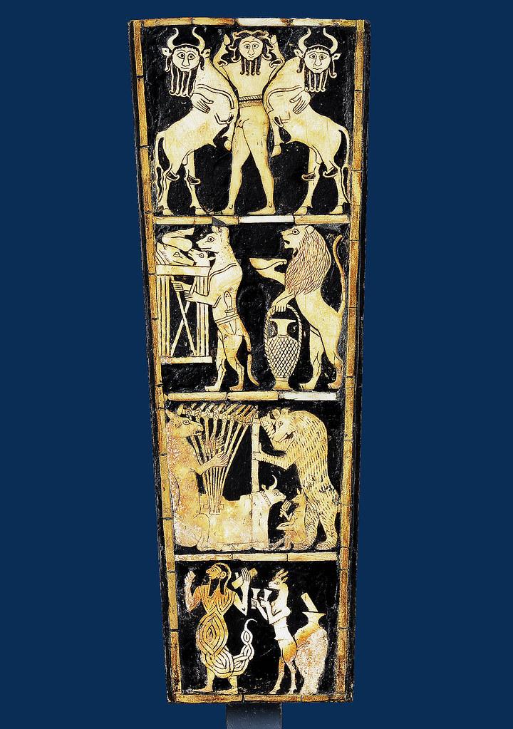 Bull-headed lyre from Ur [ca 2450 BCE]