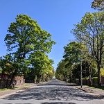 Empty Egerton Road in Preston