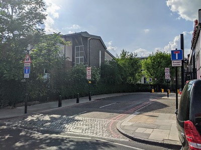 Sandall Road after the closure viewed from Camden Road