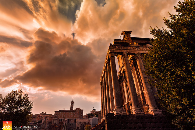 Twilight of Roman Temple
