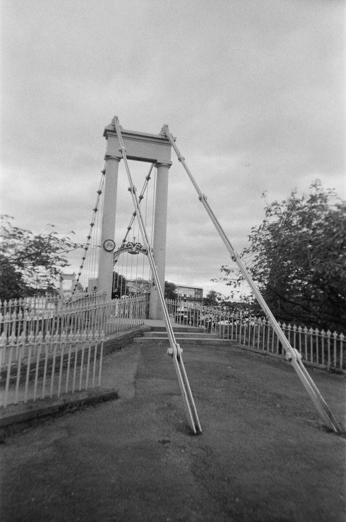 Suspension Bridge. May 2020. Lomography Lomolitos reloaded with Ilford HP5