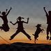 Crianças brincar _ Silhuetas_InPixio