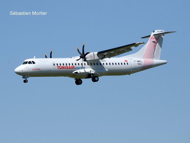 ATR.72-600 TUNISAIR EXPRESS F-WWEL 1643 TO TS-LBH OUDHNA 27 05 20 TLS