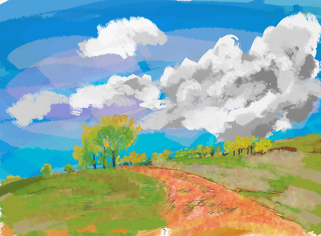 My Travel Paintings - Country Road