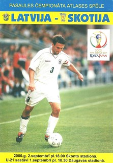 Latvia v Scotland 20000902