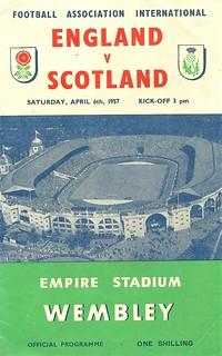England v Scotland 19570406