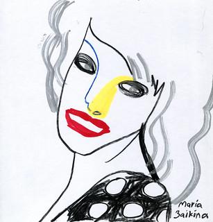 Maria Zaikina, Woman with silver hair, 2020