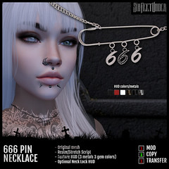 Six Feet Under - 666 Pin Necklace
