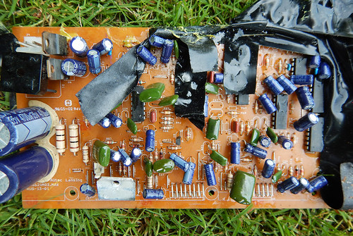 Abandoned circuit board on a Vancouver curb