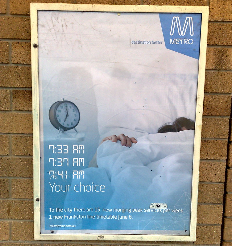 Metro promotional poster, May 2010