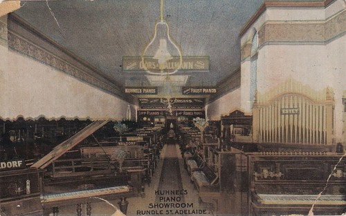 Kuhnel's Piano Showroom in Rundle Street, Adelaide, S.A. - circa 1905