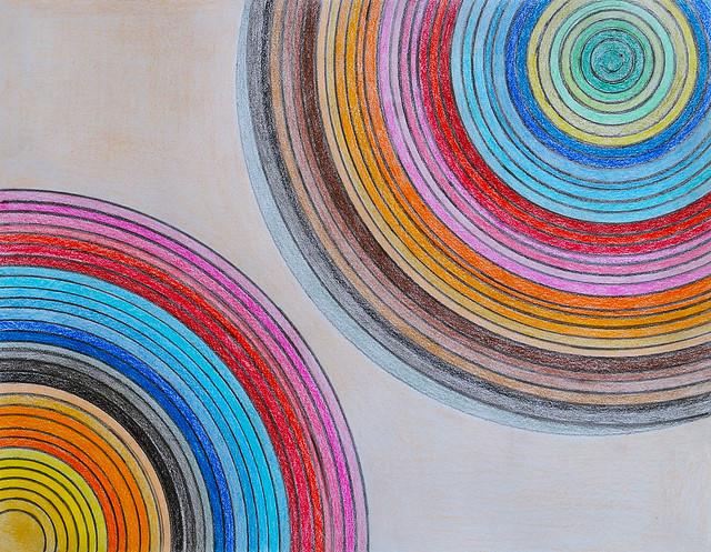 Many colors and circles at home
