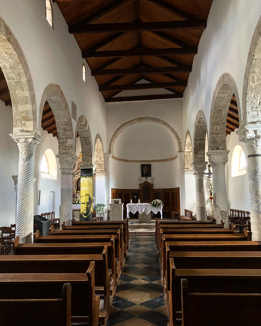 Interior of the church of Our Lady of Health, Grad Krk, Croatia